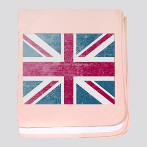 Union Jack Retro baby blanket