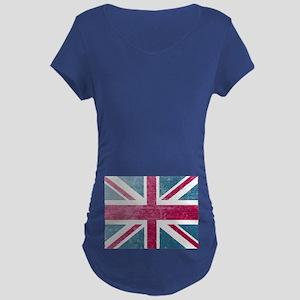 Union Jack Retro Maternity Dark T-Shirt