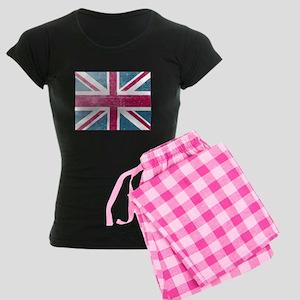 Union Jack Retro Women's Dark Pajamas