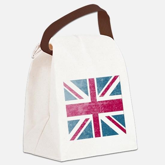 Union Jack Retro Canvas Lunch Bag