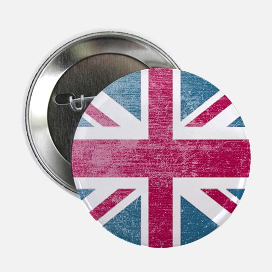 "Union Jack Retro 2.25"" Button"
