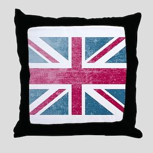 Union Jack Retro Throw Pillow