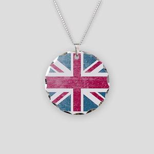 Union Jack Retro Necklace Circle Charm