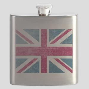 Union Jack Retro Flask