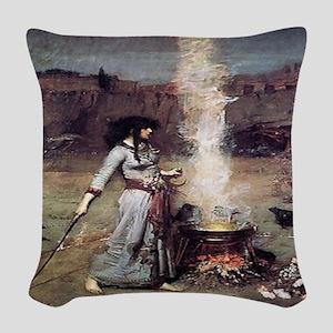Magic Circle Woven Throw Pillow