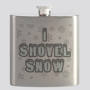 I Shovel Snow Flask