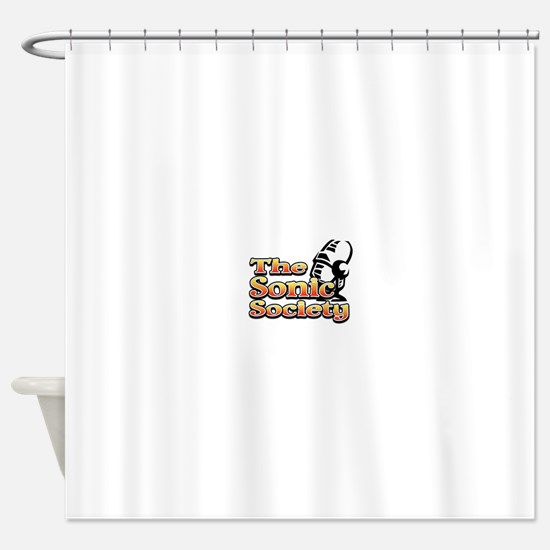 Sonic Society Black and Gold Shower Curtain