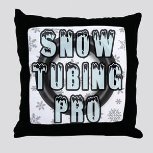 Snow Tubing Pro Throw Pillow