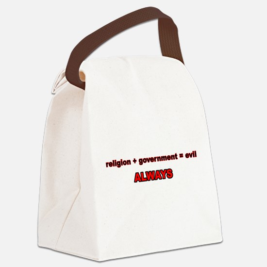 religion + government Canvas Lunch Bag