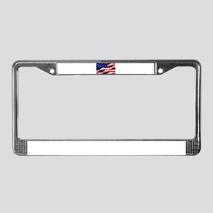 US Flag License Plate Frame