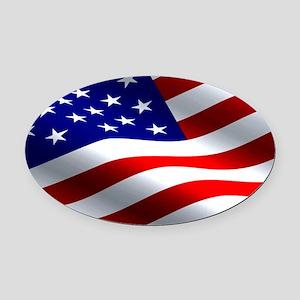 US Flag Oval Car Magnet