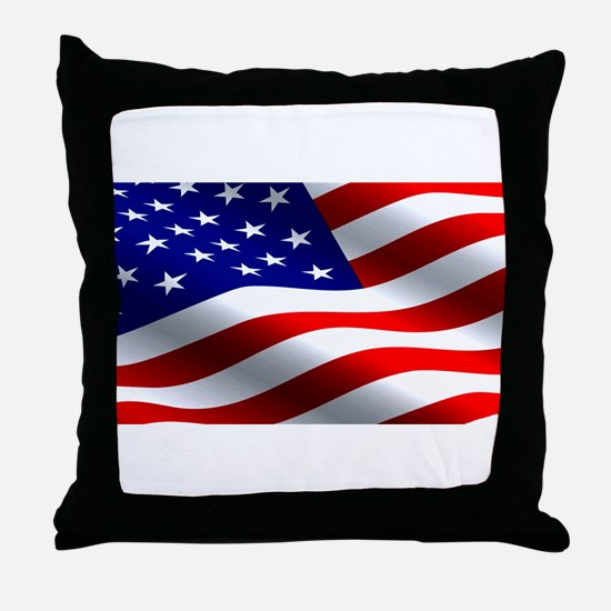 US Flag Throw Pillow