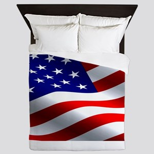 US Flag Queen Duvet