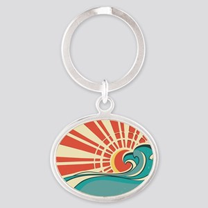 wave at dawn Keychains