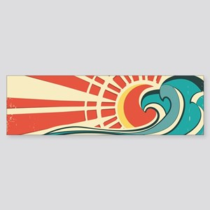 wave at dawn Bumper Sticker