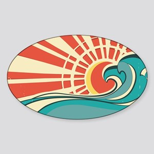 wave at dawn Sticker