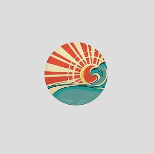 wave at dawn Mini Button