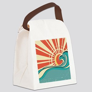 wave at dawn Canvas Lunch Bag