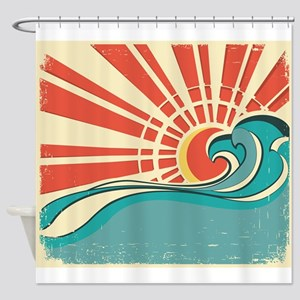 wave at dawn Shower Curtain
