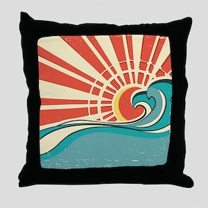 wave at dawn Throw Pillow