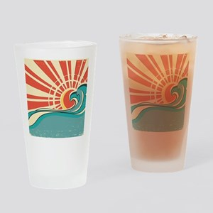 wave at dawn Drinking Glass