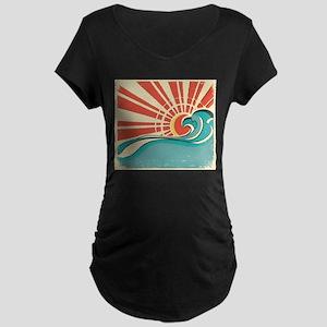 wave at dawn Maternity T-Shirt