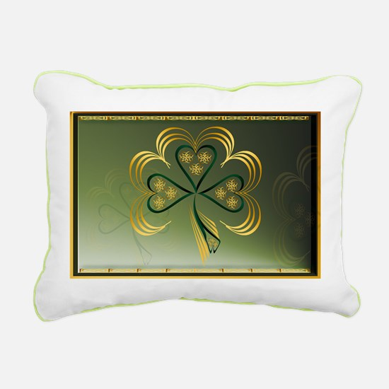 One Big Bright Shamrock Rectangular Canvas Pillow