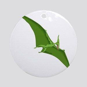 Green Pterodactyl   Round Ornament