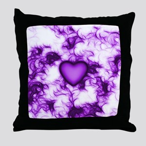 Heart Of Purple With Swirls Throw Pillow
