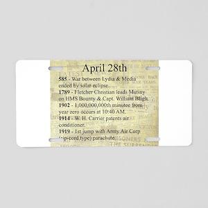 April 28th Aluminum License Plate