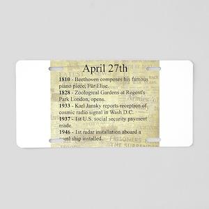 April 27th Aluminum License Plate