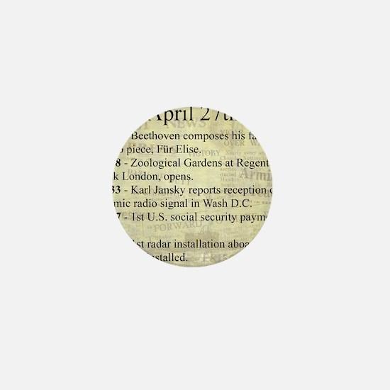 April 27th Mini Button (10 pack)