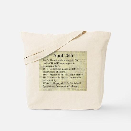 April 26th Tote Bag