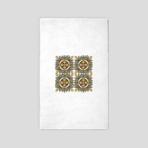 Celtic Quilt Pattern 3'x5' Area Rug