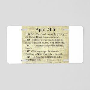 April 24th Aluminum License Plate