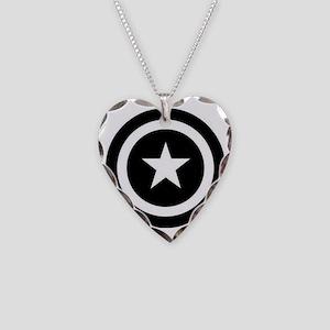 Captain America Necklace Heart Charm