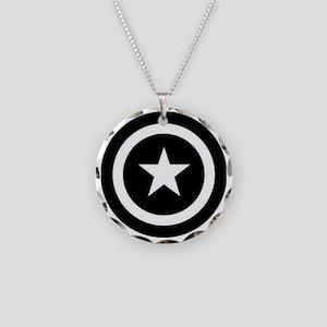 Captain America Necklace Circle Charm