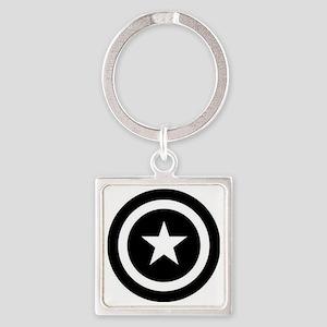Captain America Square Keychain