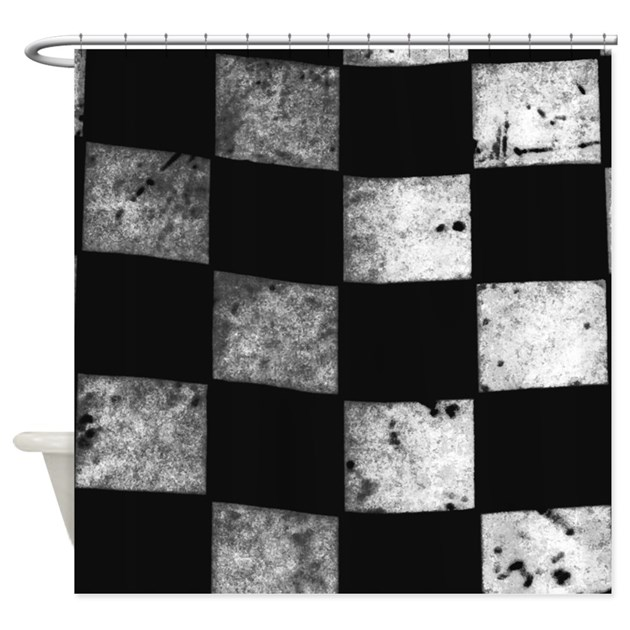 Checkered Flag Shower Curtain by KartRacing1