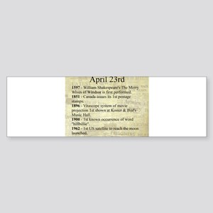 April 23rd Bumper Sticker