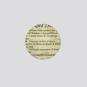 April 23rd Mini Button