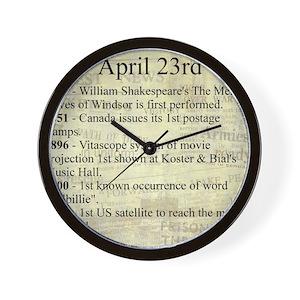 April 23rd Wall Clock