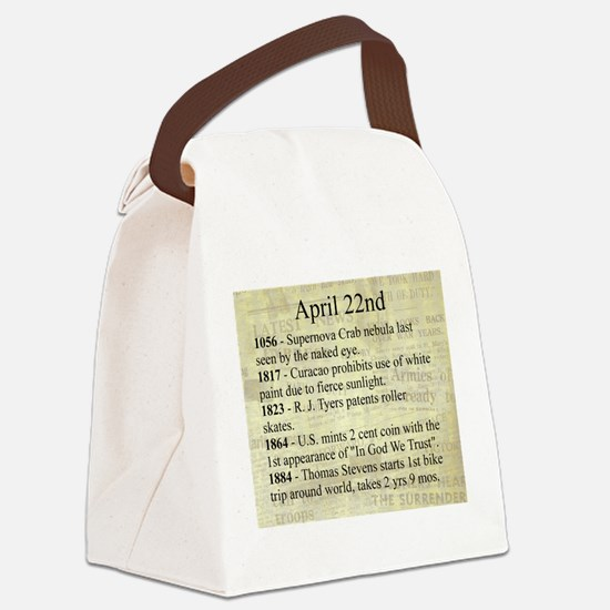 April 22nd Canvas Lunch Bag