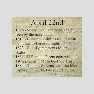 April 22nd Throw Blanket