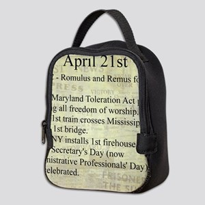 April 21st Neoprene Lunch Bag
