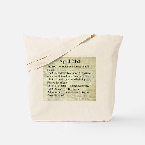 April 21st Tote Bag