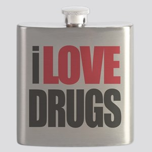 I Love Drugs Flask