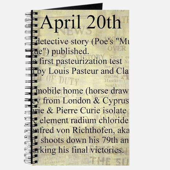 April 20th Journal