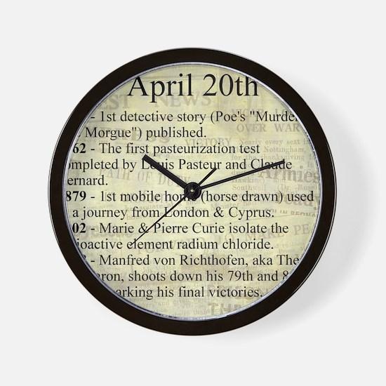 April 20th Wall Clock