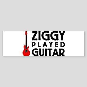 Ziggy Played Guitar Bumper Sticker